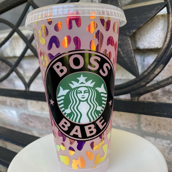 Cheetah Print Boss Babe Starbucks Cold Cup